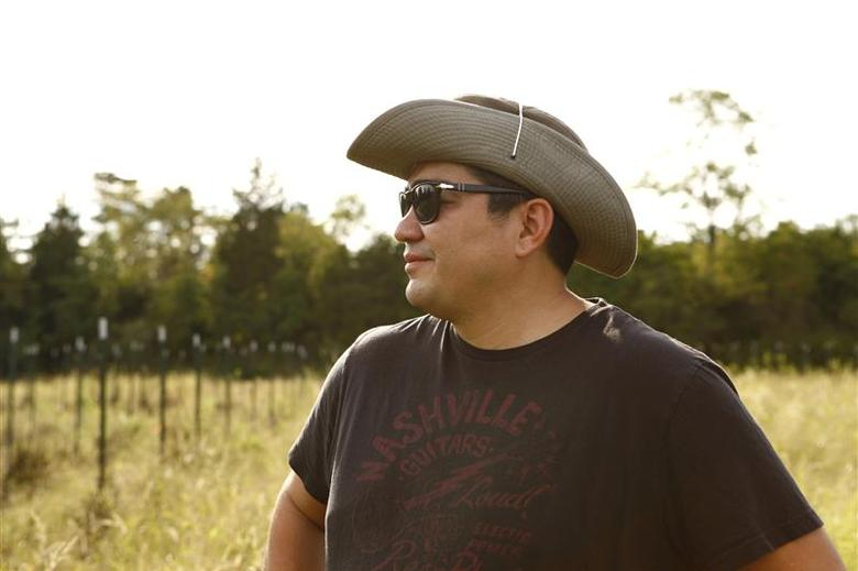 American chef Jose Garces poses on his farm, Luna Farms, in Bucks County, Pennsylvania in July 2013 in this handout photo provided by Baltz & Co. REUTERS/Jason Varney/Baltz & Co/Handout via Reuters