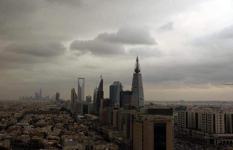 Clouds move over the Riyadh skyline November 17, 2013. Picture taken November 17, 2013. REUTERS/Faisal Al Nasser