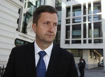 Former ICAP broker Colin Goodman leaves Westminster Magistrates' Court in London April 15, 2014. REUTERS/Luke MacGregor