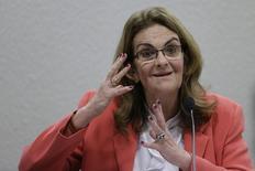A presidente da Petrobras, Maria das Graças Foster, participa de audiência no Senado, nesta terça-feira, em Brasília. 15/04/2014. REUTERS/Ueslei Marcelino