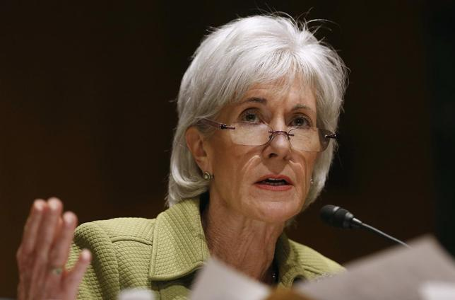 U.S. Secretary of Health and Human Services Kathleen Sebelius answers a question while she testifies before the Senate Finance Committee hearing on the President's budget proposal for FY2015, on Capitol Hill in Washington, April 10, 2014. REUTERS/Larry Downing