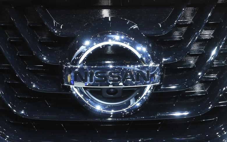 A Nissan logo on the grill of the 2015 Nissan Murano is seen on display after it was unveiled at the New York International Auto Show in New York City, April 16, 2014. REUTERS/Mike Segar