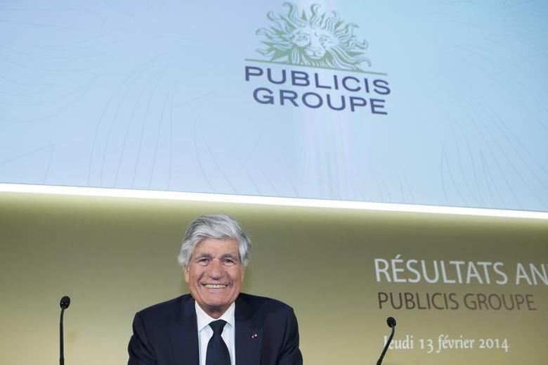 Maurice Levy, Chairman and Chief Executive Officer of Publicis Groupe, attends the company's 2013 annual results presentation in Paris, February 13, 2014. REUTERS/Gonzalo Fuentes