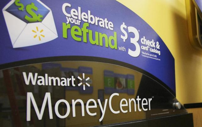 The Money Center is pictured at a new Wal-Mart store in Chicago in this file photo taken January 24, 2012. REUTERS/John Gress/Files