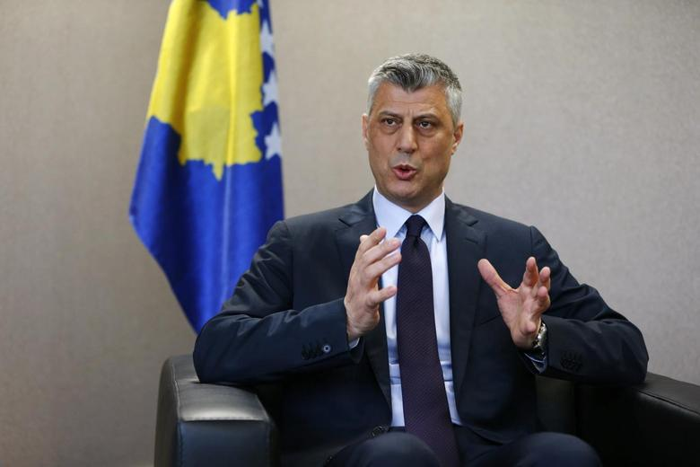 Kosovo's Prime Minister Hashim Thaci speaks to Reuters during an interview in Pristina March 27, 2014. REUTERS/Hazir Reka
