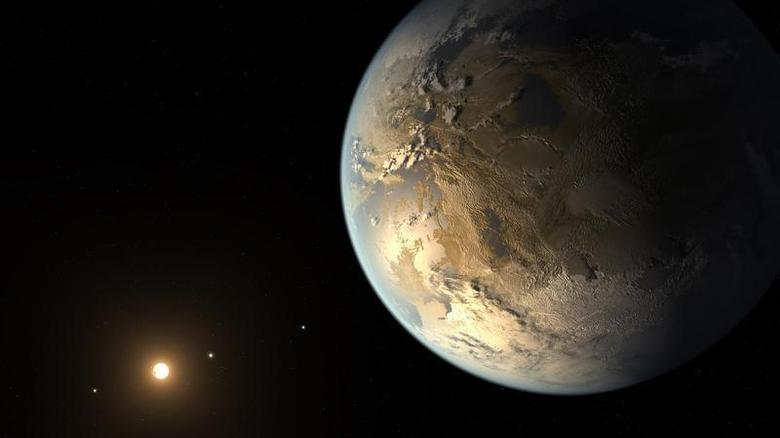 Kepler-186f, the first validated Earth-size planet to orbit a distant star in the habitable zone?a range of distance from a star where liquid water might pool on the planet's surface, is seen in a NASA artist's concept released April 17, 2014. REUTERS/NASA/JPL-Caltech/Handout