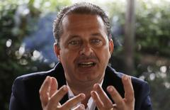 O pré-candidato do PSB à Presidência, Eduardo Campos, nesta quinta-feira durante entrevista à Reuters, em São Paulo. 17/04/2014 REUTERS/Nacho Doce