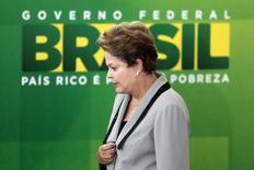 A presidente Dilma Rousseff durante cerimônia no Palácio do Planalto, em Brasília, no início de abril. 01/04/2014 REUTERS/Ueslei Marcelino
