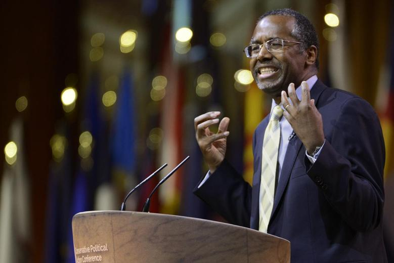 Columnist, retired neurosurgeon and potential presidential candidate Ben Carson speaks at the Conservative Political Action Conference (CPAC) in Oxon Hill, Maryland, March 8, 2014. REUTERS/Mike Theiler