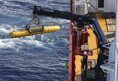 Drone risks damage at record depth in search for...