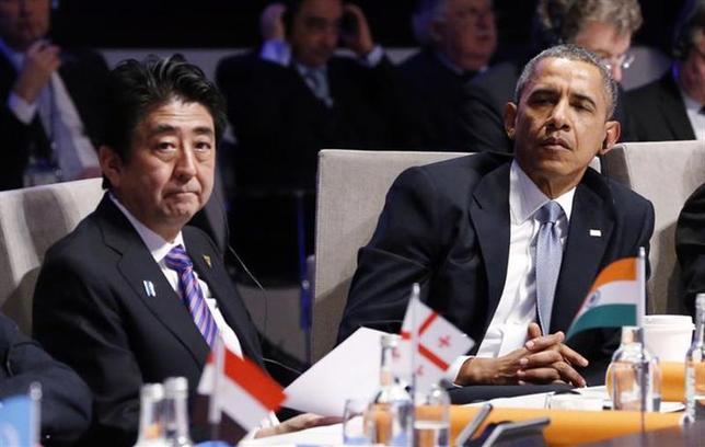 4月18日、米政府高官は、来週行われる日米首脳会談では環太平洋連携協定(TPP)をめぐる合意の発表はないとの見通しを示した。3月撮影(2014年 ロイター/Yves Herman)