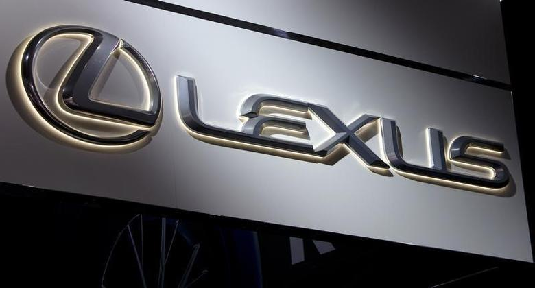 A Lexus logo is pictured at the Jacob Javits Convention Center during the New York International Auto Show in New York April 16, 2014. REUTERS/Carlo Allegri