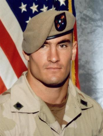 The U.S. Army has opened a new investigation into the circumstances of the April death in Afghanistan of Cpl. Pat Tillman, a former professional football player killed in a ''probable'' friendly fire incident, officials said on December 6, 2004. REUTERS/Photography Plus C/O Stealth Media Solutions/Handout