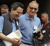 Fidelity Investments Contrafund manager Will Danoff (L) and Liberty Media CEO Greg Maffei (R) attend the second day of the Sun Valley Conference in Sun Valley, Idaho in this July 7, 2011, file photo. REUTERS/Anthony Bolante/Files