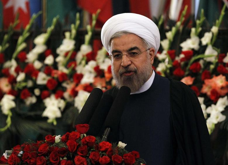 Iran's President Hassan Rouhani speaks during an event to mark Nawroz, the Persian New Year, in Kabul March 27, 2014. REUTERS/Omar Sobhani
