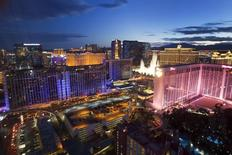 Las Vegas Strip casinos are seen in a file photo.