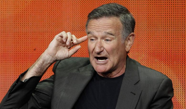 Cast member Robin Williams speaks at a panel for the television series ''The Crazy Ones'' during the CBS portion of the Television Critics Association Summer press tour in Beverly Hills, California July 29, 2013. REUTERS/Mario Anzuoni