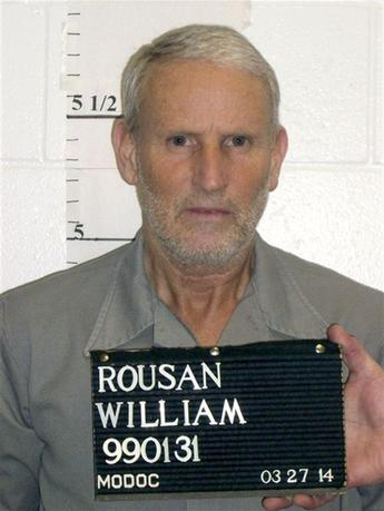 Missouri death row inmate William Rousan, 57, is seen in a March 27, 2014 photo released by the Missouri Department of Corrections. REUTERS/Missouri Department of Corrections/Handout