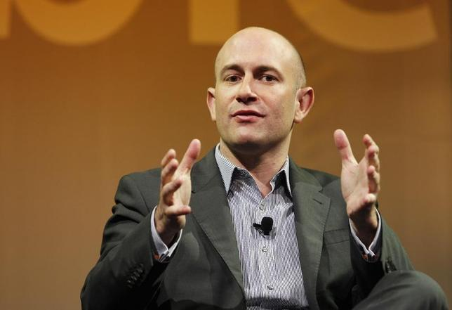 Rio Caraeff, President and CEO of VEVO, gestures as he takes part in a panel discussion at The Cable Show in Boston, Massachusetts May 22, 2012. REUTERS/Jessica Rinaldi