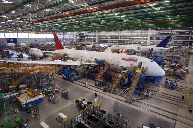 A 787 Dreamliner being built for India Air is pictured at South Carolina Boeing final assembly building in North Charleston, South Carolina December 19, 2013. REUTERS/Randall Hill