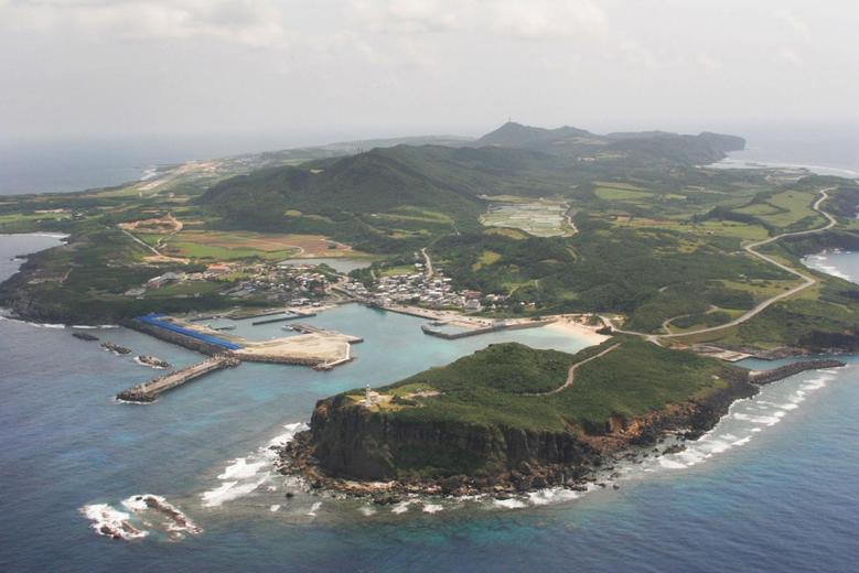 An aerial view shows Yonaguni island, Okinawa prefecture in this picture taken by Kyodo on March 28, 2007. REUTERS/Kyodo