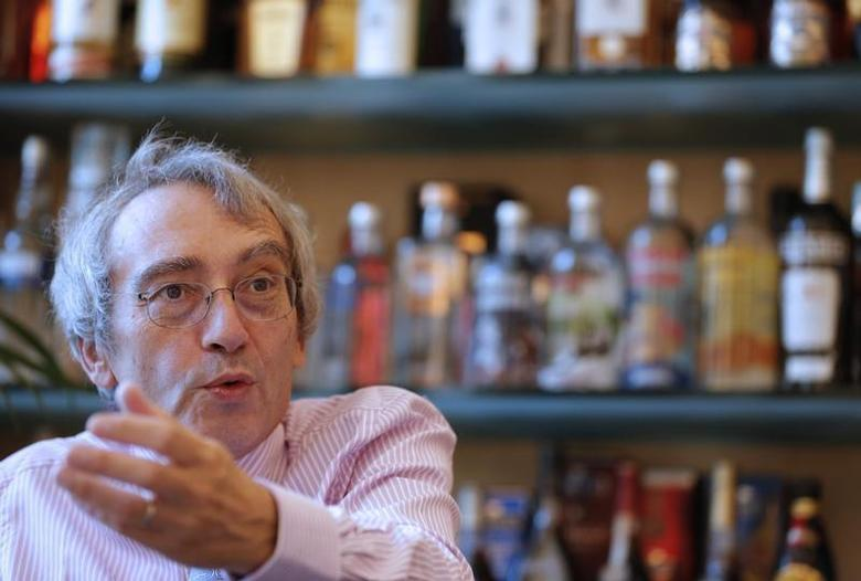 Pernod Ricard Chief Executive Officer Pierre Pringuet speaks during an interview with Reuters at the company's headquarters in Paris November 6, 2012. REUTERS/Christian Hartmann