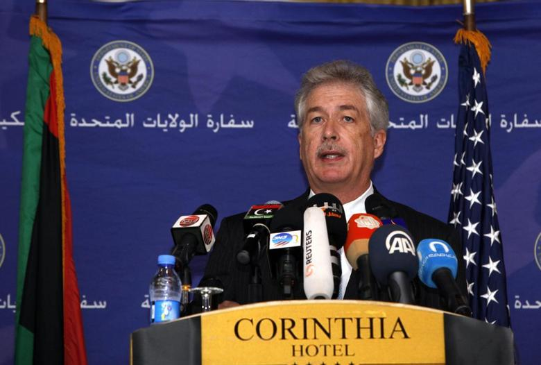 U.S. Deputy Secretary of State William Burns speaks during a news conference in Tripoli Libya April 24, 2014. REUTERS/Ismail Zitouny