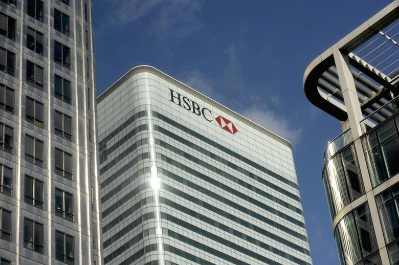 A general view shows the HSBC building in the financial district of Canary Wharf in London March 24 2009. REUTERS/Kieran Doherty