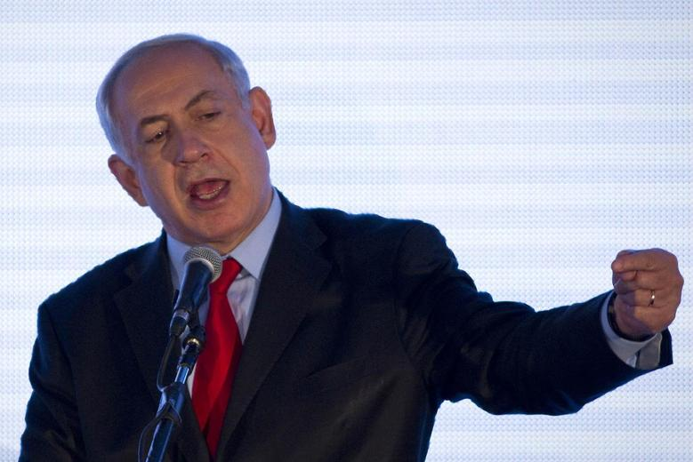 Israel's Prime Minister Benjamin Netanyahu speaks at the sixth Negev Conference in the southern town of Sderot March 18, 2014. REUTERS/Amir Cohen