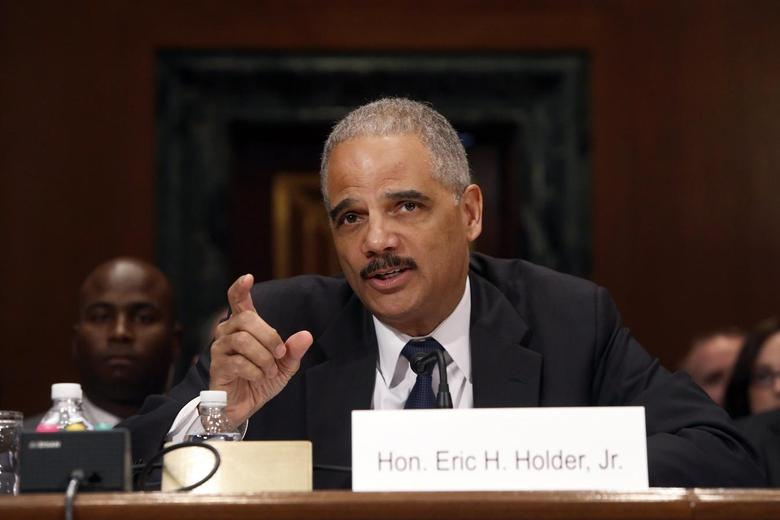 U.S. Attorney General Eric Holder testifies about his FY2015 budget request at a Senate Appropriations Committee hearing on Capitol Hill in Washington April 3, 2014. REUTERS/Jonathan Ernst