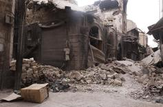 A view shows damages in Bab Antakya in Old Aleppo October 2, 2012. REUTERS/Zain Karam