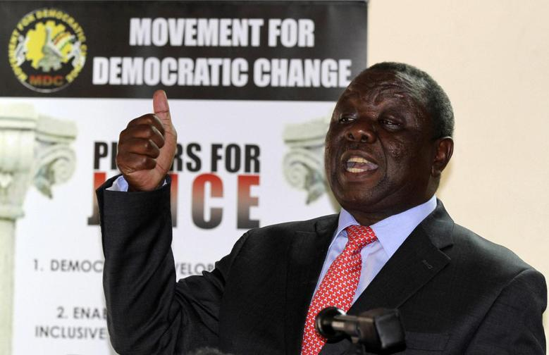 Zimbabwe opposition party Movement For Democratic Change (MDC) leader Morgan Tsvangirai addresses a news conference in Harare September 18, 2013. REUTERS/Philimon Bulawayo