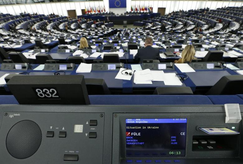 Members of the European Parliament attend a debate on the situation in Ukraine at the European Parliament in Strasbourg, February 5, 2014. REUTERS/Vincent Kessler