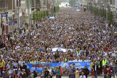 Hungarians march against anti-Semitism after far-right...