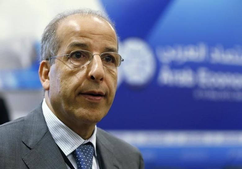 Libya's central bank governor Saddek Omar Elkaber attends the opening of the Arab Economic Forum 2013 at a hotel in Beirut May 9, 2013. REUTERS/Mohamed Azakir