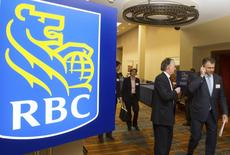 Shareholders leave the Royal Bank of Canada's (RBC) Annual General Meeting in Calgary, Alberta February 28, 2013. REUTERS/Mike Sturk