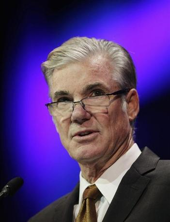 Superintendent of Public Instruction Tom Torlakson speaks at the 2014 California Democrats State Convention at the Los Angeles Convention Center March 8, 2014. REUTERS/David McNew