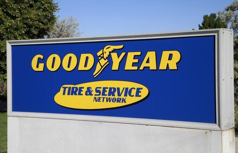 The Goodyear Tire and Rubber Co. company logo is seen in Westminster, Colorado August 27, 2013. REUTERS/Rick Wilking