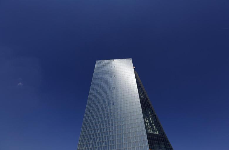 A construction site of the new headquarters of the European Central Bank (ECB) is seen in bright sunshine in Frankfurt April 23, 2014. REUTERS/Kai Pfaffenbach