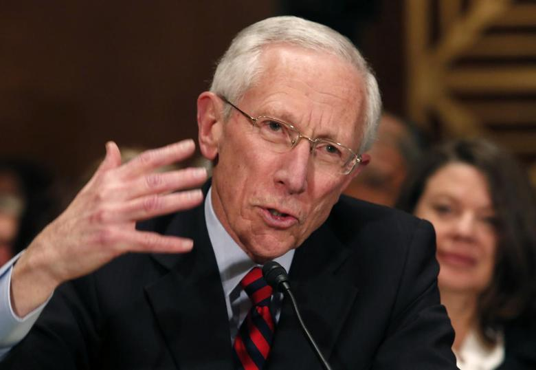 Stanley Fischer, the former chief of the Bank of Israel, testifies before the Senate Banking Committee confirmation hearing on his nomination to be a member and vice chairman of the Federal Reserve Board of Governors on Capitol Hill in Washington March 13, 2014. REUTERS/Yuri Gripas