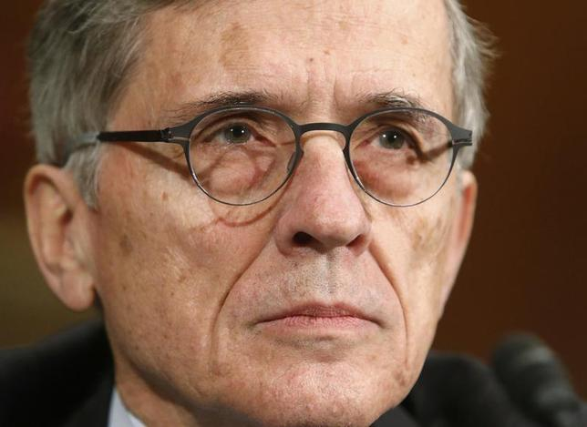 Federal Communications Commission (FCC) Chairman Tom Wheeler testifies before a Senate Appropriations Financial Services and General Government Subcommittee hearing on the FY2015 budget justification for the FCC, on Capitol Hill in Washington March 27, 2014. REUTERS/Jonathan Ernst