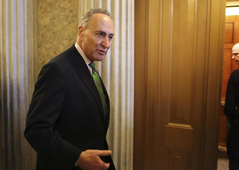 U.S. Senator Chuck Schumer (D-NY) leaves after a Senate cloture vote on budget bill on Capitol Hill in Washington December 17, 2013. REUTERS/Yuri Gripas
