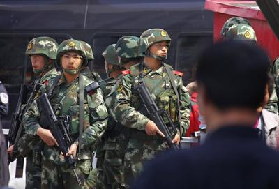 China blames religious extremists for station bombing