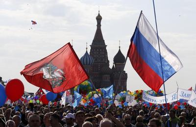 Russia stages first Red Square May Day parade since...