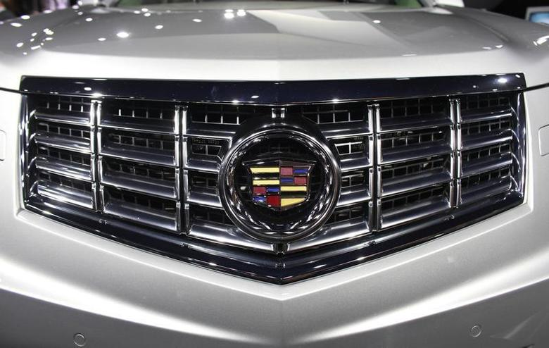 The front grill of a 2013 Cadillac SRX Crossover is shown at the 2012 New York International Auto Show at the Javits Center in New York, April 5, 2012. REUTERS/Allison Joyce