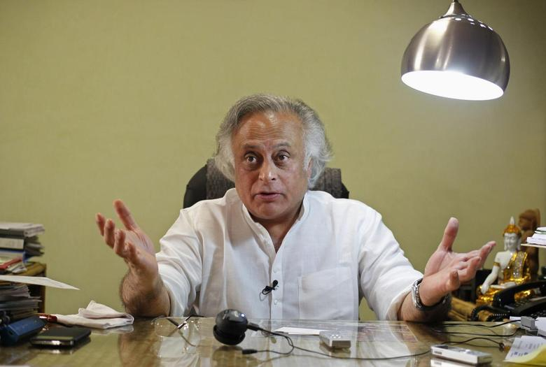 India's Rural Development Minister Jairam Ramesh speaks during an interview with Reuters at his office in New Delhi November 5, 2013. REUTERS/Anindito Mukherjee