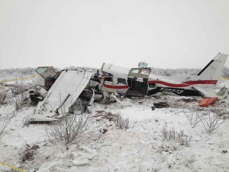 A Cessna 208 that crashed in southwest Alaska on November 29, 2013 is pictured in this undated photo courtesy of the Alaska State Troopers. REUTERS/Alaska State Troopers/Handout via Reuters