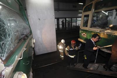 Subway trains crash in South Korean capital, 200...