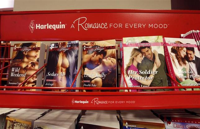 Harlequin books are pictured at a store in Ottawa May 2, 2014. REUTERS/Chris Wattie