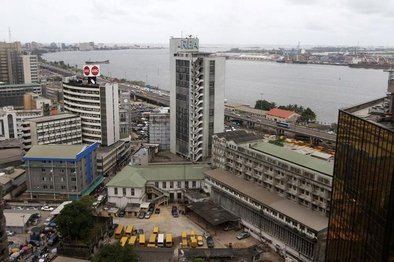 A view is seen of the Nigeria stock exchange building in the central business district in Lagos April 10, 2013. REUTERS/Akintunde Akinleye
